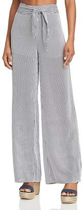Aqua Striped Wide-Leg Pants - 100% Exclusive