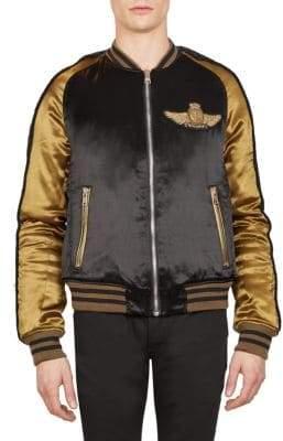 Balmain Satin Teddy Bomber Jacket