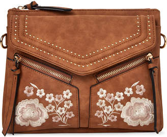 N. Violet Ray Leanne Floral Embroidered Crossbody