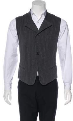 Ann Demeulemeester Striped Twill Suit Vest