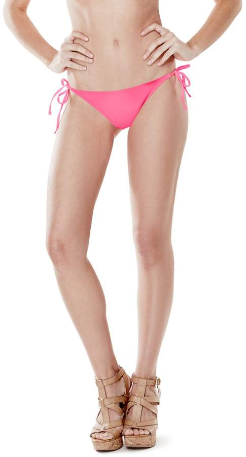 GUESS Women's String Brief Bikini Bottoms