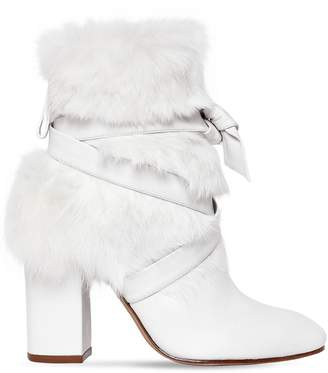 Alexandre Birman 85mm Lora Leather & Lapin Ankle Boots