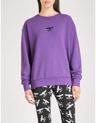 Boy London Brand-logo cotton-jersey sweatshirt