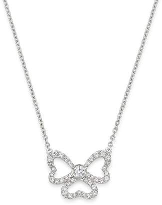 Bloomingdale's Diamond Clover of Hearts Necklace in 14K White Gold, 0.50 ct. t.w. - 100% Exclusive