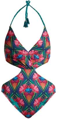 Paolita - Maguey Cut Out Swimsuit - Womens - Pink Multi