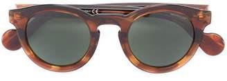 Moncler Eyewear tortoiseshell round frame sunglasses