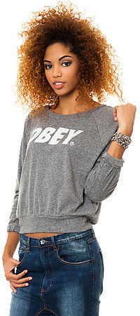 Obey The Font Triblend Sweatshirt