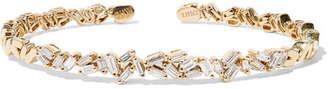 Suzanne Kalan 18-karat Gold Diamond Cuff