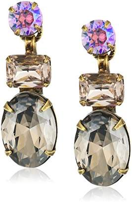 Sorrelli Onyx Multi-Cut Crystal Drop Earrings