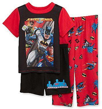 Justice DC Comics League 3-pc. Pajamas – Boys 2t-4t