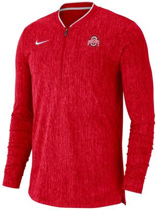Nike Men's Ohio State Buckeyes Coach 1/2-Zip Pullover Top