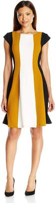 Robbie Bee Women's Petite Capsleeve Dress