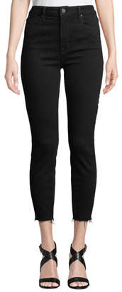 Parker Smith Bombshell High-Rise Skinny Cropped Jeans w/ Raw Hem