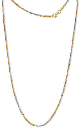 FINE JEWELRY Made In Italy Sterling Silver Gold Over Silver 18 Inch Chain Necklace