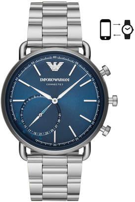 Emporio Armani Men's Stainless Steel Bracelet Hybrid Smart Watch 43mm