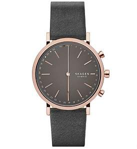Skagen Hald Leather Hybrid Smartwatch