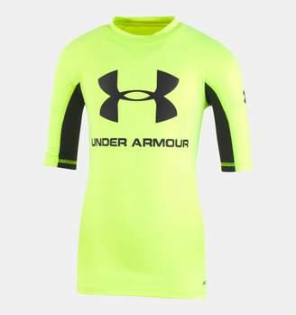 Under Armour Boys' Infant UA Rashguard Short Sleeve Shirt
