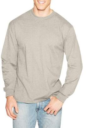 3209ddb1 at Walmart.com · Hanes Men's Premium Beefy-T Long Sleeve T-Shirt, up to 3xl