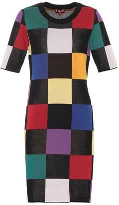 STAUD Omars cotton knitted dress