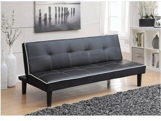 Coaster Company Sofa Bed/Futon, Black and White Leatherette