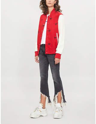 Boy London Logo-patch woven varsity jacket