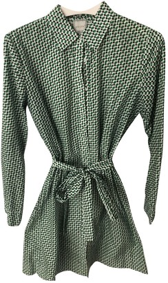 Petite Mendigote Green Cotton Dress for Women