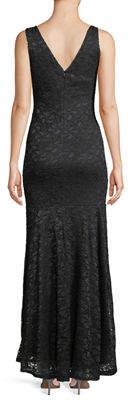 Marina Sleeveless Drop-Waist Lace Gown