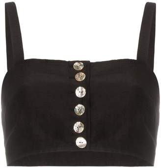 Maryam Nassir Zadeh button down sleeveless bralette