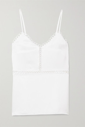 CAMI NYC The Tracey Lattice-trimmed Silk-charmeuse Camisole