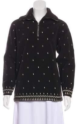 Post Card Embroidered Fleece Sweatshirt