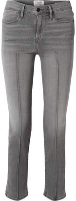 Frame Le High Straight-leg Jeans - Gray