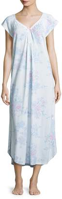 Midnight by Carole Hochman Women's Cotton Floral Long Gown