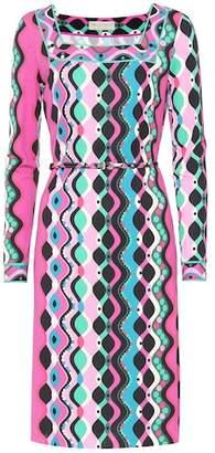 Emilio Pucci Belted printed dress