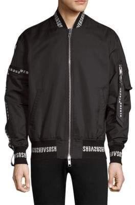 Versus By Versace Logo Bomber Jacket