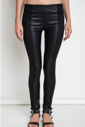 Umgee USA Faux Leather/suede Leggings