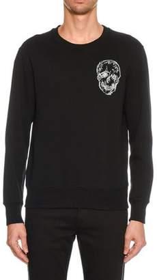 Alexander McQueen Men's Embroidered Skull Sweatshirt
