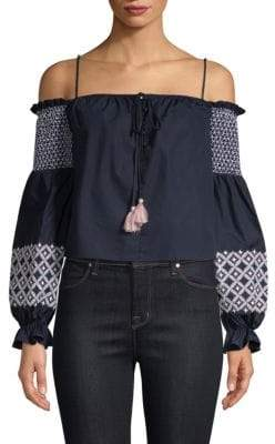 Rebecca Minkoff Tiffany Off-The-Shoulder Top