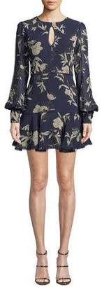 Bardot Tammy Eyelet-Trim Floral Short Dress