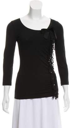 Philosophy di Alberta Ferretti Embellished Long Sleeve Top