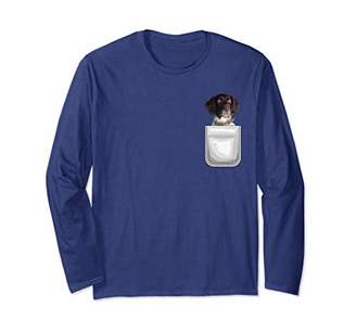American Water Spaniel Puppy Dog in Your Pocket Long Sleeve T-Shirt