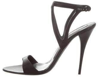 Narciso Rodriguez Satin Ankle Strap Sandals