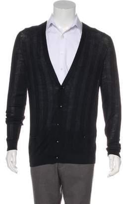 TSE Striped Alpaca & Wool-Blend Cardigan