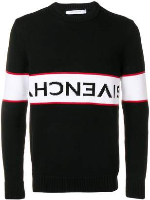 Givenchy upside down logo band cotton jumper