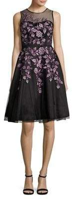 Decode 1.8 Embroidered Mesh Lace Dress