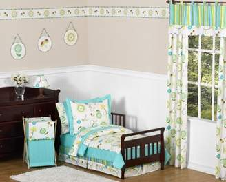 JoJo Designs Sweet 5-Piece Turquoise and Lime Layla Girls Toddler Bedding Set