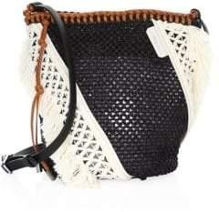3.1 Phillip Lim Mini Marlee Woven Mesh Drawstring Crossbody Bag