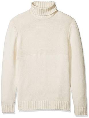 French Connection Men's Cotton Wool Contrast Direction Roll Neck Sweater