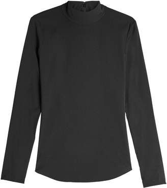 Theory Long Sleeved Silk Top