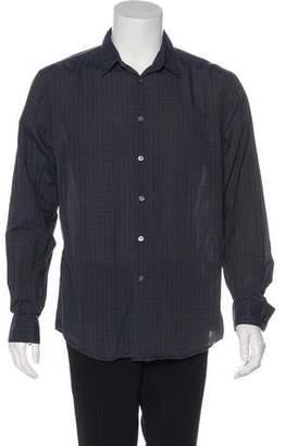 John Varvatos Woven Plaid Button-Up Shirt