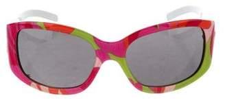 Dolce & Gabbana Floral-Print Square Sunglasses